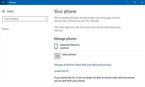 Cách kết nối điện thoại Android, iPhone trên Windows 10 PC 1