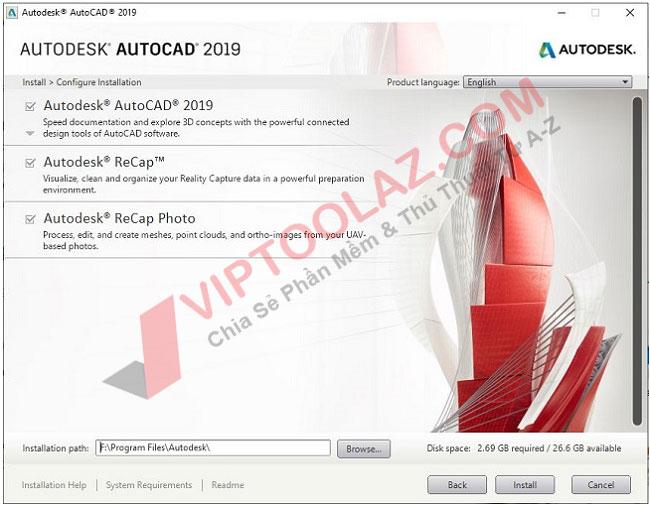 Hướng dẫn cài đặt Autocad 2019 bước 4