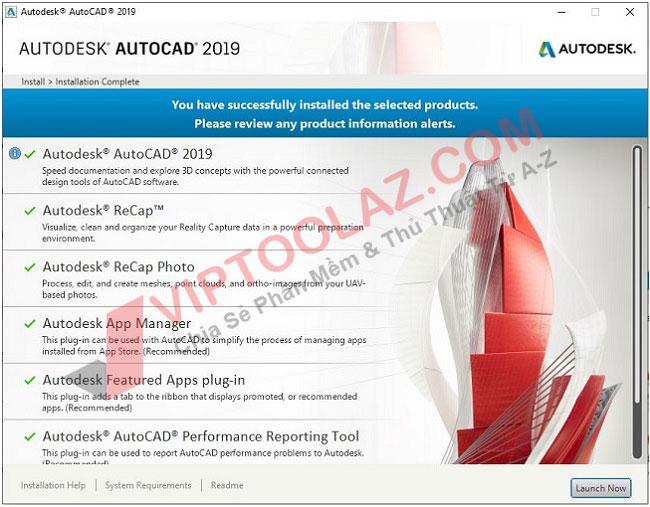 Hướng dẫn cài đặt Autocad 2019 bước 6